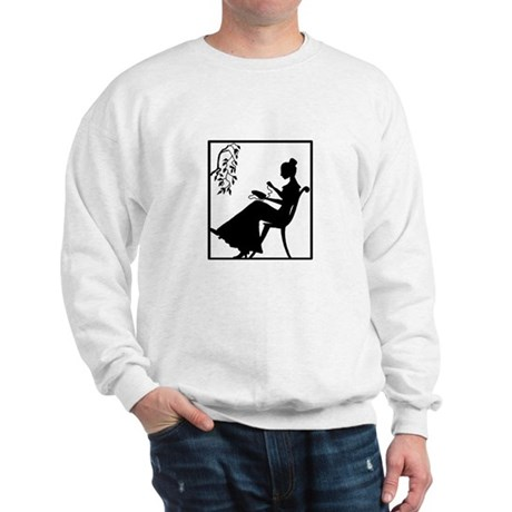 Silhouette Woman with Embroid Sweatshirt
