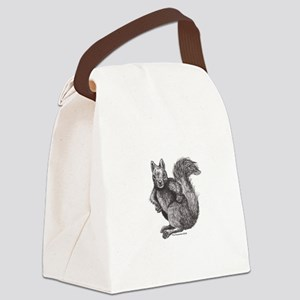 Angry Squirrel Canvas Lunch Bag
