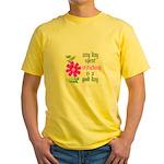 Any Day Spent Stitching - Goo Yellow T-Shirt