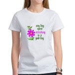 Any Day Spent Stitching - Goo Women's T-Shirt