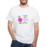 Any Day Spent Stitching - Goo White T-Shirt