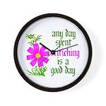 Any Day Spent Stitching - Goo Wall Clock