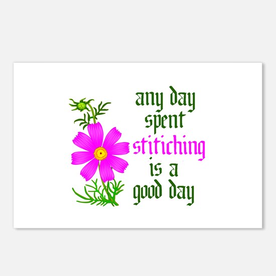 Any Day Spent Stitching - Goo Postcards (Package o