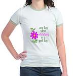 Any Day Spent Stitching - Goo Jr. Ringer T-Shirt