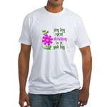 Any Day Spent Stitching - Goo Fitted T-Shirt
