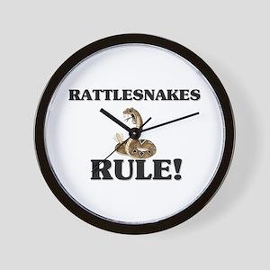 Rattlesnakes Rule! Wall Clock