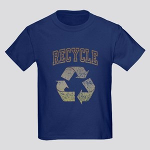 Earth Day Recycle 08 Kids Dark T-Shirt