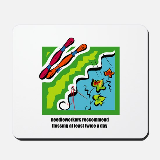 Needleworkers Embroidery Flos Mousepad