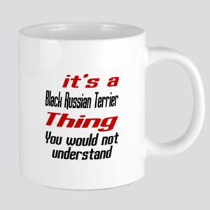 Black Russian Terrier Thing Dog Designs Mugs