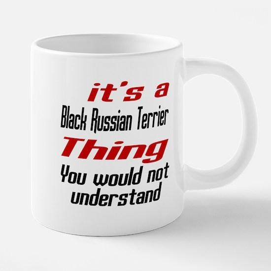 Black Russian Terrier Thing Dog Designs Mugs