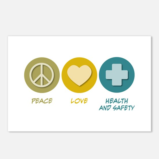 Peace Love Health and Safety Postcards (Package of