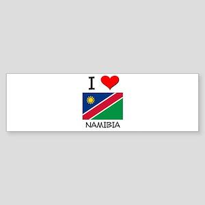 I Love Namibia Bumper Sticker