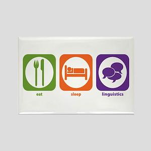 Eat Sleep Linguistics Rectangle Magnet