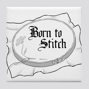 Embroidery Hoop - Born to Sti Tile Coaster
