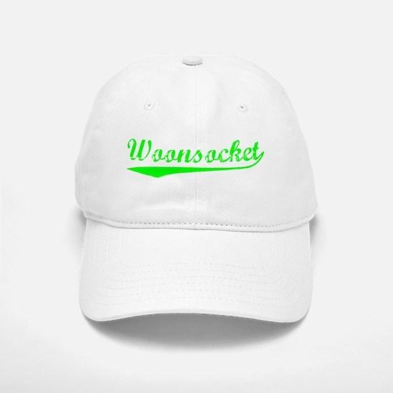 Vintage Woonsocket (Green) Baseball Baseball Cap