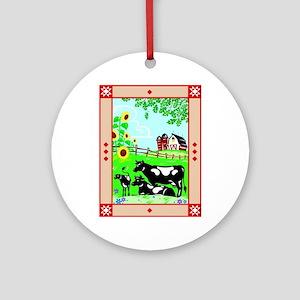 The Barn Ornament (Round)