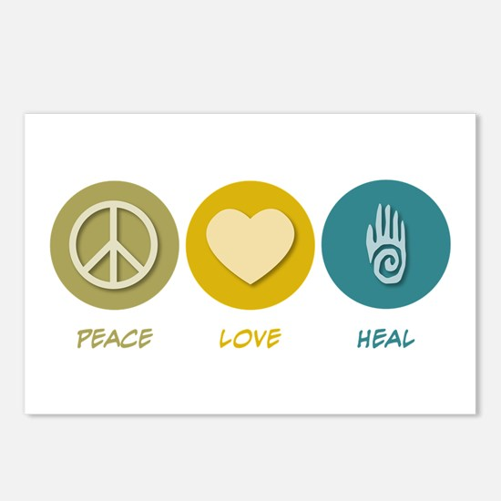 Peace Love Heal Postcards (Package of 8)