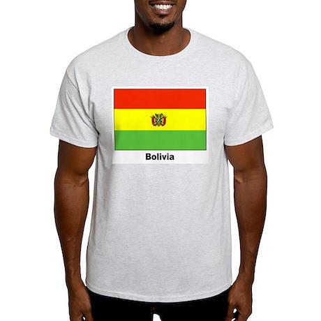 Bolivia Bolivian Flag Ash Grey T-Shirt