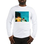 Crazy Flame Motorcycle Man on Long Sleeve T-Shirt