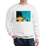 Crazy Flame Motorcycle Man on Sweatshirt
