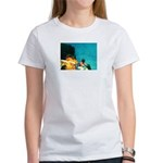 Crazy Flame Motorcycle Man on Women's T-Shirt