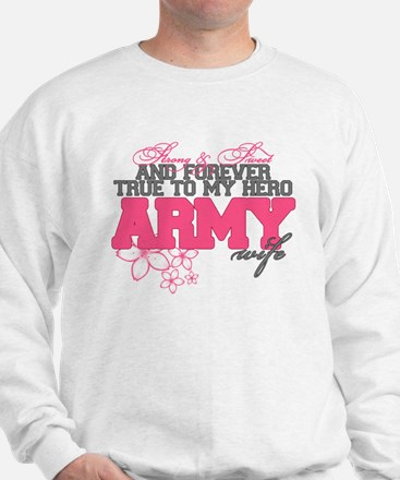 Strong & Sweet Army Wife Sweatshirt