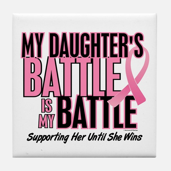 My Battle Too 1 (Daughter BC) Tile Coaster