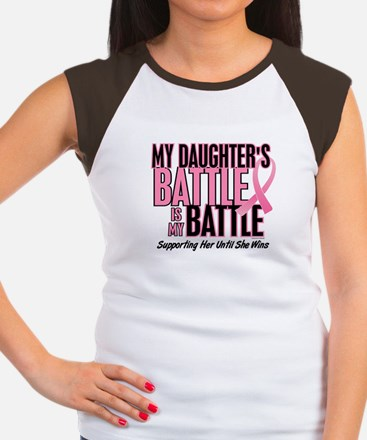 My Battle Too 1 (Daughter BC) Women's Cap Sleeve T
