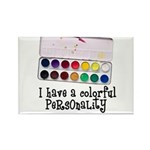 Artist Paints - Colorful Pers Rectangle Magnet (10