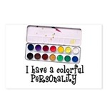 Artist Paints - Colorful Pers Postcards (Package o
