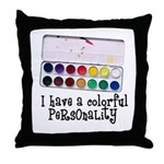 Artist Paints - Colorful Pers Throw Pillow