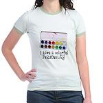 Artist Paints - Colorful Pers Jr. Ringer T-Shirt