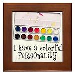 Artist Paints - Colorful Pers Framed Tile