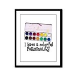 Artist Paints - Colorful Pers Framed Panel Print