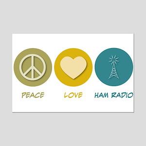 Peace Love Ham Radio Mini Poster Print