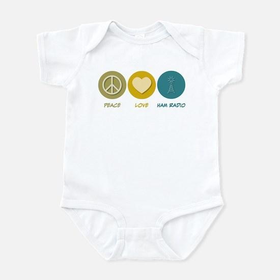 Peace Love Ham Radio Infant Bodysuit