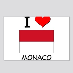 I Love Monaco Postcards (Package of 8)
