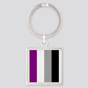 Asexual Pride Flag Keychains