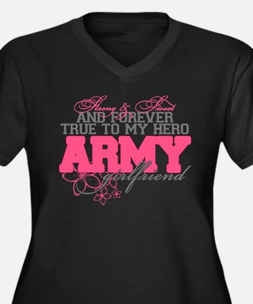 Strong&Sweet Army Girlfriend Women's Plus Size V-N