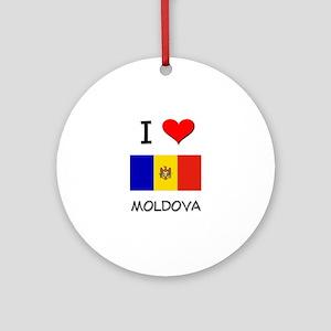 I Love Moldova Ornament (Round)