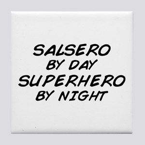 Salsero Superhero by Night Tile Coaster