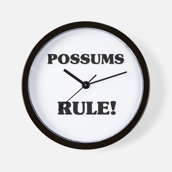 Possums Rule! Wall Clock