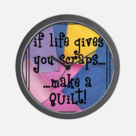 If Life Gives You Scraps - Qu Wall Clock