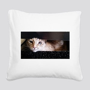 Cosmic Kitty Square Canvas Pillow