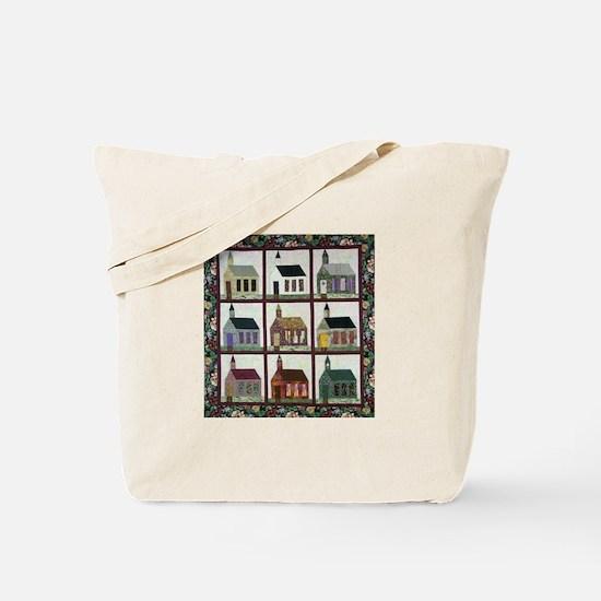 Church Quilt - Quilt Craft Tote Bag