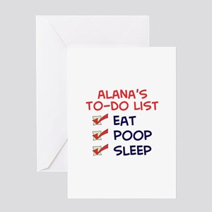 Alana's To-Do List Greeting Card