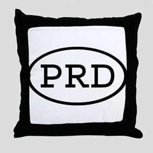 PRD Oval Throw Pillow