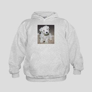 Westie Pup IAmTooCute Kids Hoodie