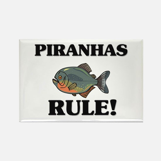 Piranhas Rule! Rectangle Magnet
