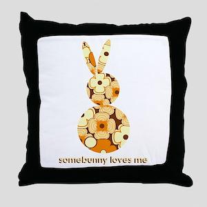 somebunny loves me #2 Throw Pillow